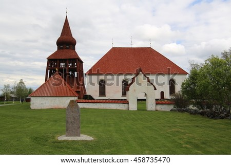 Swedish church in Oviken in Jamtland County.