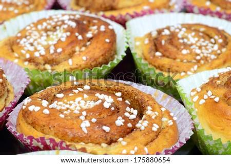 Swedish cinnamon buns - stock photo