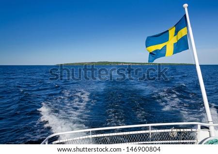 Swedish ferry trip - stock photo