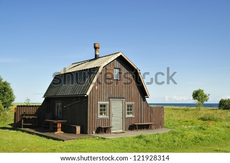 Swedish housing, Gotland in Sweden.
