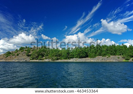 Swedish landscape in the summer