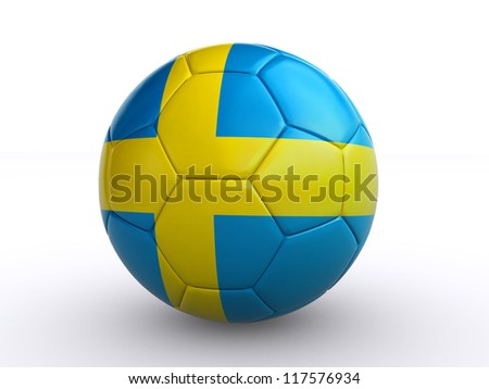 swedish soccer ball - stock photo