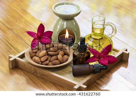 Sweet Almond Massage Oil: mixed with essential oils to Oil Massage is the ideal spa for Massage Treatment, mixed with liquid soap, lotions, creams, shampoos, Make up remover, Eye remover.