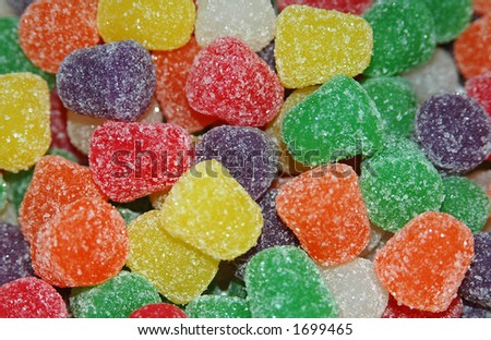 Sweet and colorful gumdrops