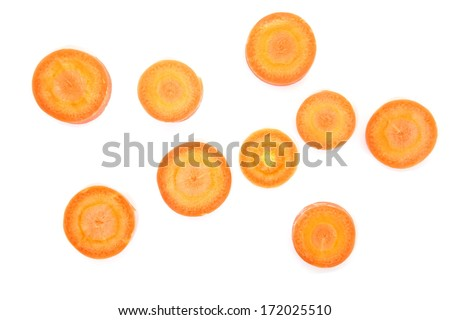 Sweet and fresh carrots vegetable - stock photo