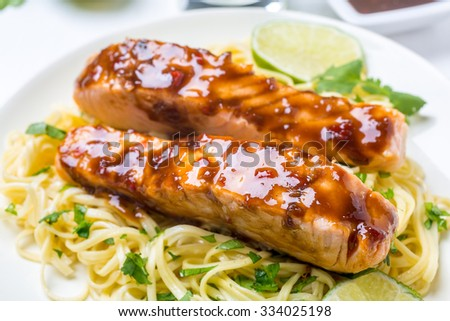 Sweet and Spicy Orange Chilli-Glazed Salmon