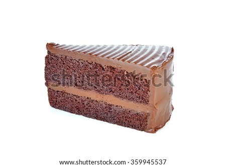 Sweet and tasty chocolate cake great for during coffee break isolated on white.