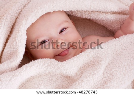 Sweet baby girl - stock photo
