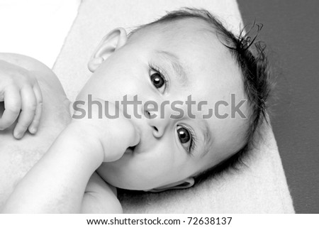 sweet baby sleeping on a blanket, newborn baby