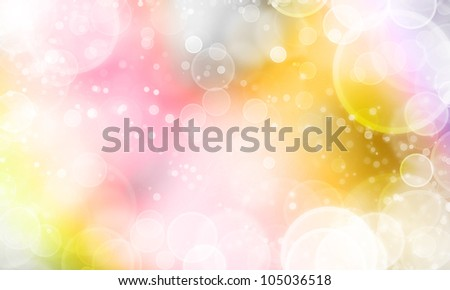 sweet background abstract texture with lights cycle bokeh and stars - stock photo
