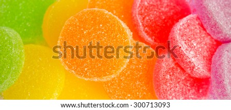 Sweet Background With Colorful Sugar Jellies, Selective Focus, Texture/Wallpaper [Original Collection]