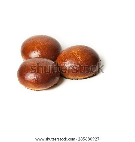 Sweet bread isolated on white background