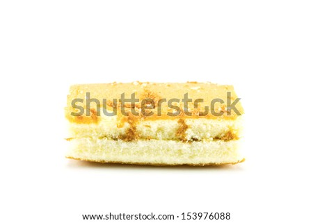 Sweet bread on a white background