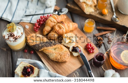 sweet breakfast - stock photo