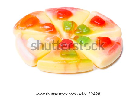 sweet candied dried isolate on a white background