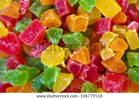 Sweet Candied Fruit - stock photo