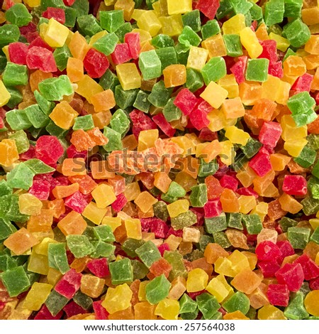 Sweet candied fruit background - stock photo