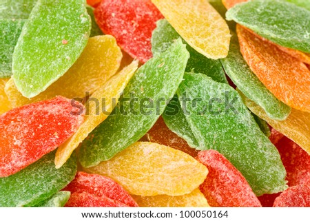 Sweet Candied Fruit closeup - stock photo