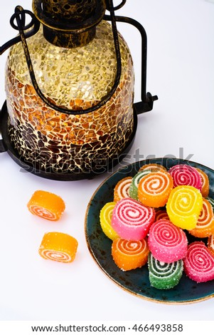 Sweet Candied Fruit Jelly Studio Photo