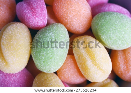 Sweet candies, closeup - stock photo