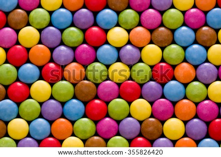 sweet candies spreading pastry decoration background - stock photo