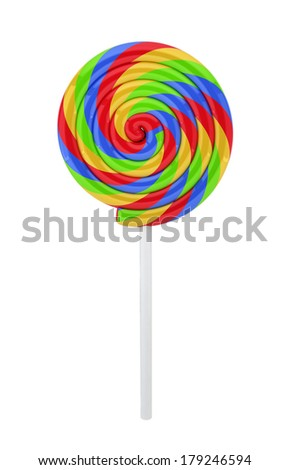 Sweet candy. 3d illustration on white background