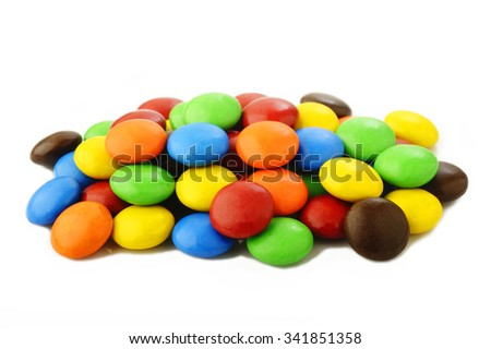 sweet candy on white background - stock photo
