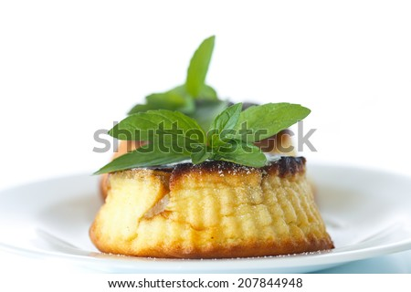 sweet cheese muffins on a white background