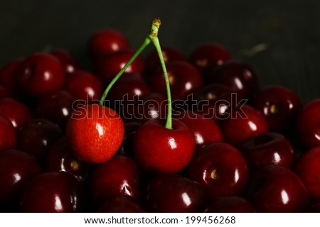 Sweet cherries, close up  - stock photo