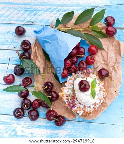 Sweet cherry - stock photo