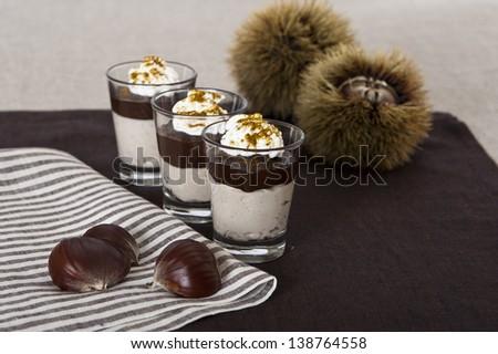 sweet chestnut  - stock photo