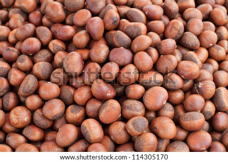 sweet chestnuts - stock photo