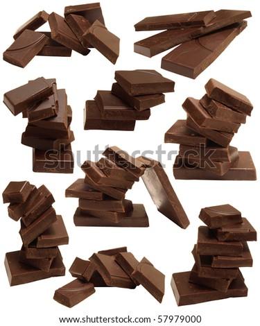 Sweet chocolate bars - stock photo