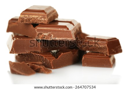 Sweet chocolate isolated on white