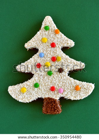 Sweet Christmas tree - stock photo