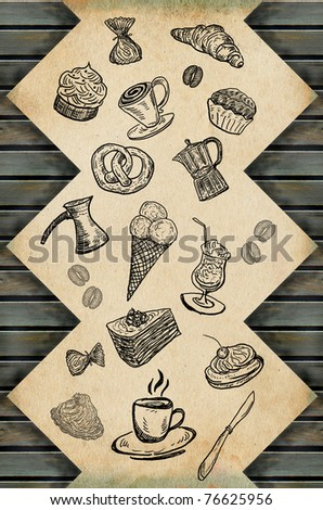 Sweet coffee paper - stock photo