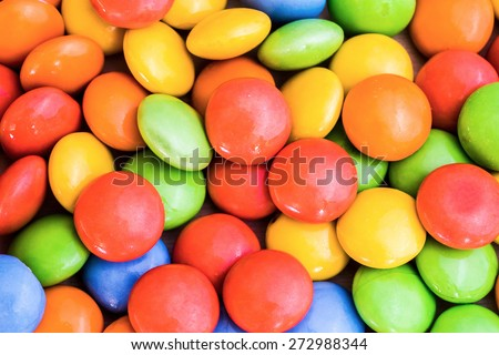 Sweet color candy - stock photo