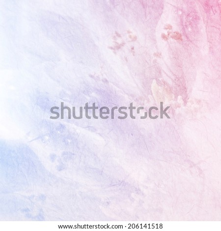 sweet color flower petals on mulberry paper texture