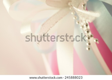 sweet color ribbons in soft color style for background