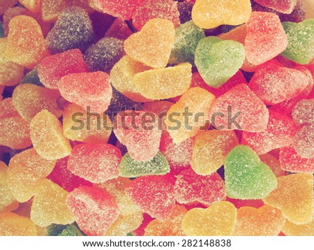 Sweet colorful candy. Retro style photo - stock photo