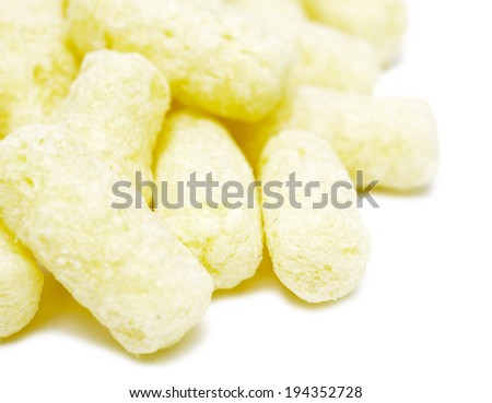 sweet corn flakes isolated on white background