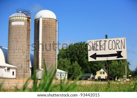 Sweet corn for sale sign