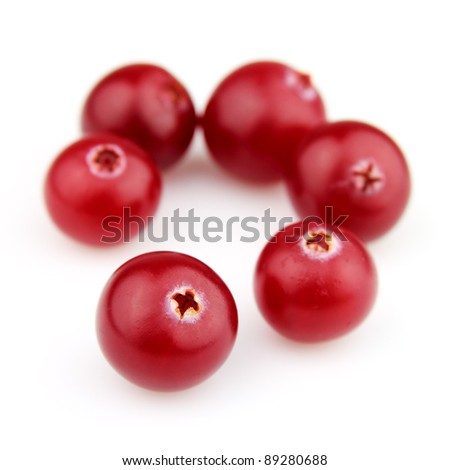 Sweet cranberry in closeup