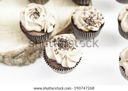 Sweet cupcakes decorated dessert detail flavors, colors and decoration, party and celebration - stock photo