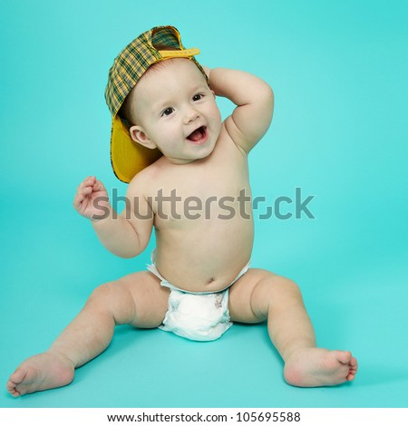 Sweet cute little boy - stock photo