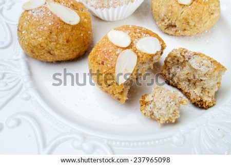 Sweet delicious homemade almond cookies  - stock photo