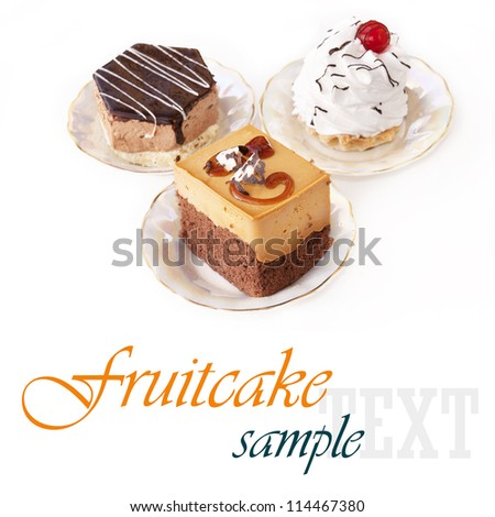 Sweet dessert.Biscuit cake - stock photo