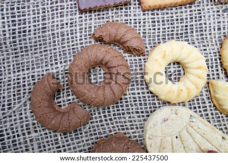 Sweet different  and delicious cookies