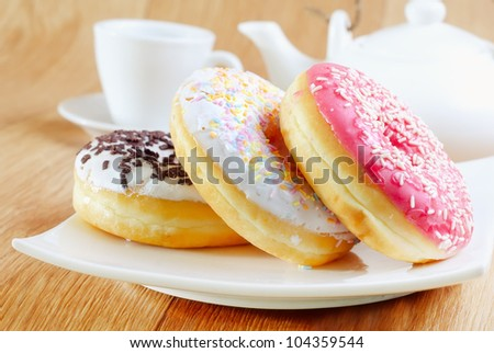 sweet donuts - stock photo