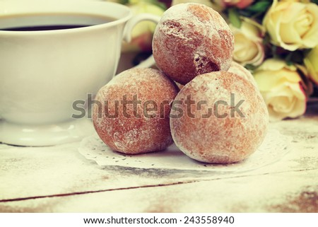 sweet donuts - stock photo